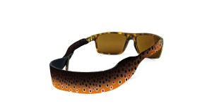 Croakies Print Brown Fish Skin XL