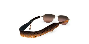 Croakies Print Brown Fish Skin regular