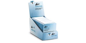 Anti-fog doekjes in display